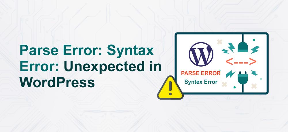 Parse Error: Syntax Error